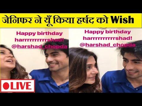 Birthday messages - Video: कुछ इस तरह किया जेनिफर ने हर्षद को Birthday Wish  Zoya-Aaditya Real Life  Birthday Wish