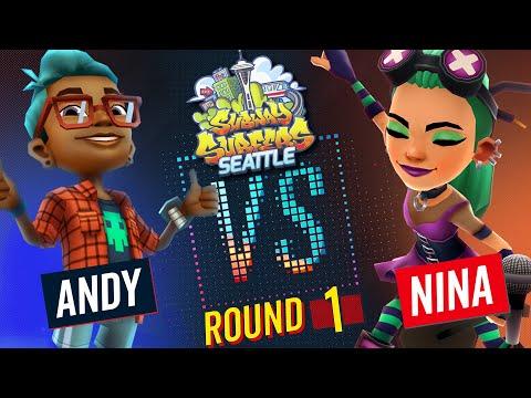 Subway Surfers Versus   Andy VS Nina   Seattle - Round 1   SYBO TV