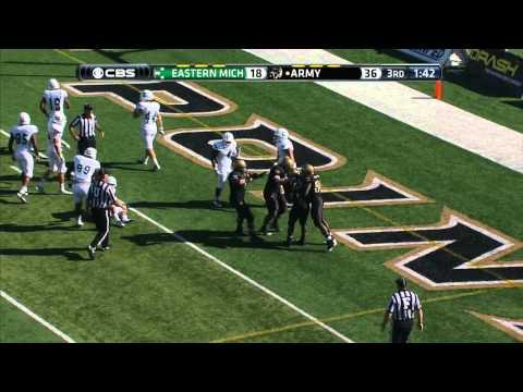 Larry Dixon 30-yard touchdown run vs Eastern Michigan 2013 video.
