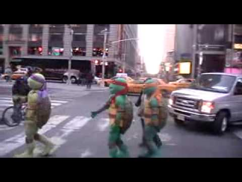 TMNT at Times Square #1 - Behind the Scenes Footage