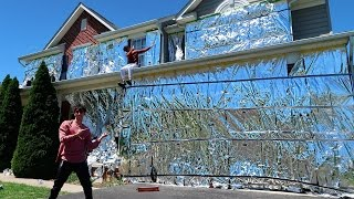 INSANE ALUMINUM FOIL PRANK ON HOUSE!