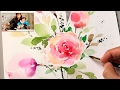 Download Lagu [LVL4] How to Paint Flowers with Watercolor | Step by Step Tutorial Mp3 Free
