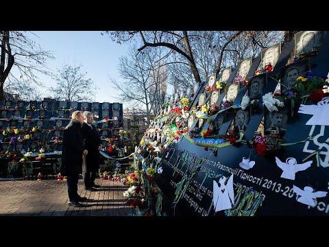 Ukraine: Tusk gedenkt der Opfer der Maidan-Revolution