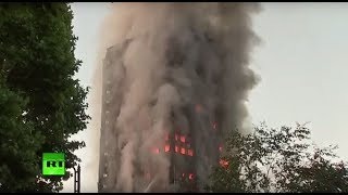 West London Grenfell Tower on fire, multiple casualties confirmed (Recorded LIVE FEED)