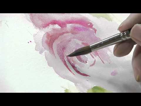 flower painting - Chuck McLachlan is back, this time with a new free art lesson on how to paint florals in watercolors! In this video, you can follow along with Chuck as he la...