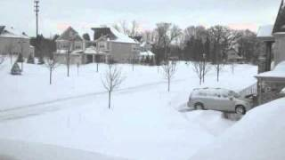 February 2011 Blizzard Time lapse