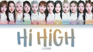 Video LOONA - HI HIGH (Color Coded Lyrics Eng/Rom/Han/가사) MP3, 3GP, MP4, WEBM, AVI, FLV Januari 2019