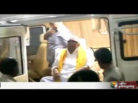 Special-campaign-Vehicle-to-DMK-Leader-Karunanidhi