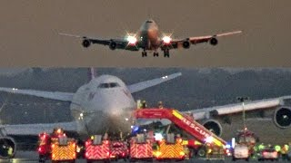 Emergency Landing Gatwick Airport, Virgin Atlantic Boeing 747 G-VROM