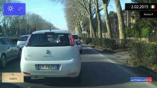 Monza Italy  city photos gallery : Driving through Milano (Italy) from Bicocca to Monza 2.02.2015 Timelapse x4