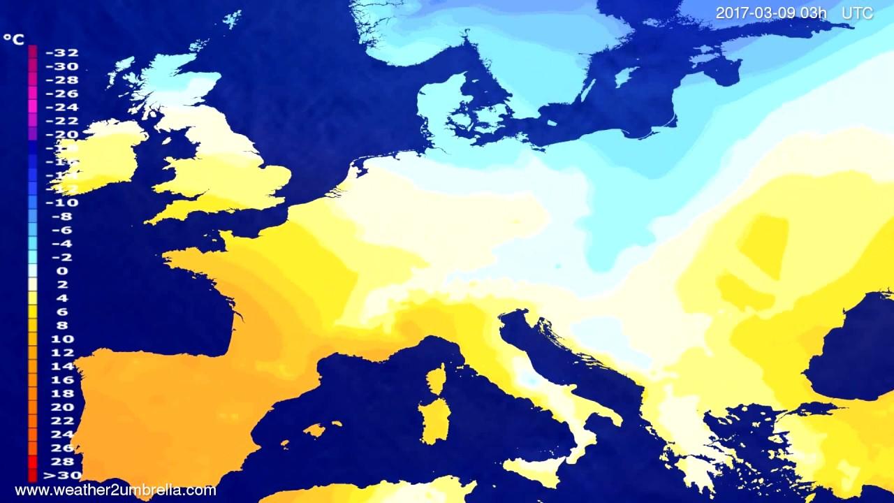 Temperature forecast Europe 2017-03-06