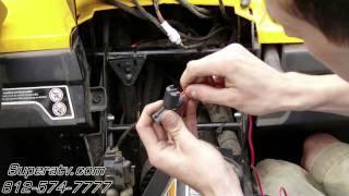 6. Can-Am Commander Light Wiring Harness Install - Super ATV