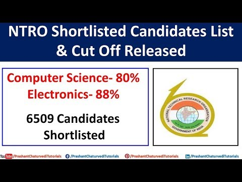 Ntro Technical Assistant Shortlisted Candidates List & Cut Off Released