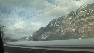 Chur Switzerland  city photo : HD Train scenery from Zurich to Chur Switzerland Christmas eve day part 1
