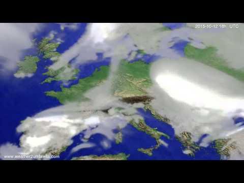Cloud forecast Europe 2015-10-09