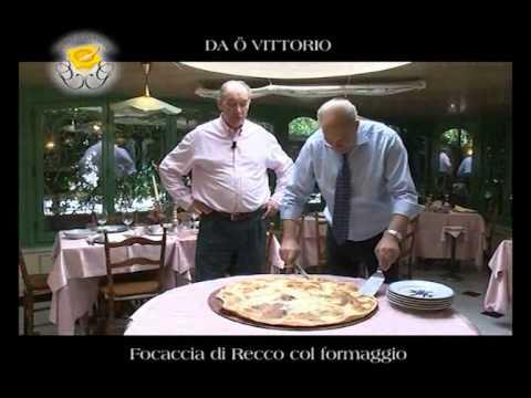 Genova Gourmet, ristorante Da O Vittorio, video ricetta Focaccia di Recco col formaggio