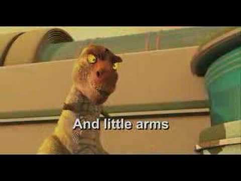 Dinosaur Scene- big head little arms