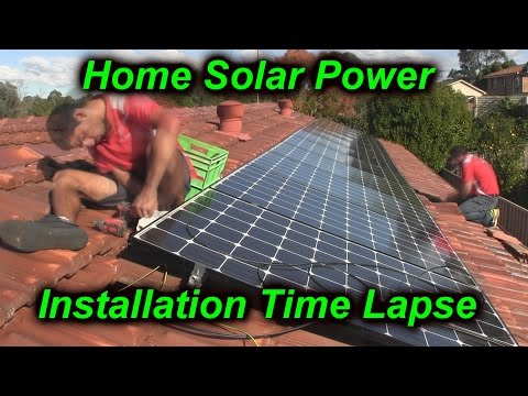 Home Solar Power System Installation Time Lapse