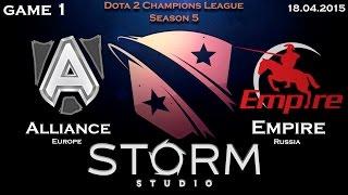 Alliance vs Empire, game 1