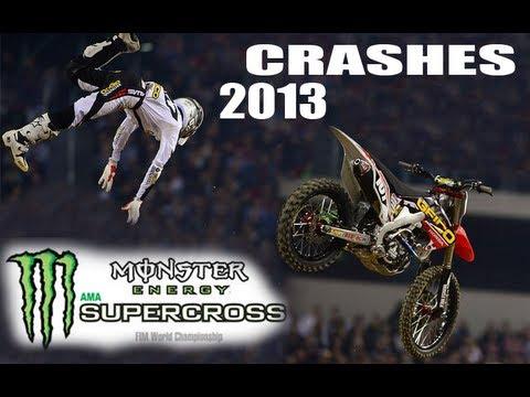 All 2013 AMA Supercross Crashes