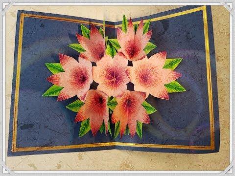 DIY 3D Flower Pop Up Greeting Card