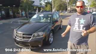 Autoline's 2008 Dodge Avenger R/T Walk Around Review Test Drive