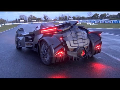 Epic Lamborghini Converted Into The Batmobile