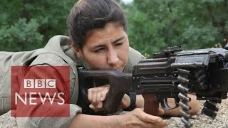The BBC has gained exclusive access to a PKK training camp where Yazidi and Kurdish women are learning to fight. Subscribe to BBC News HERE ...