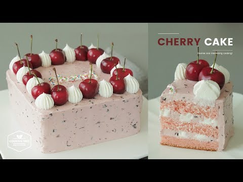 체리 케이크 만들기 : Cherry Butter Cream Cake Recipe : チェリーケーキ | Cooking Tree