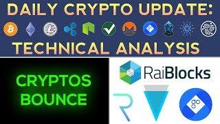 BIG ALTCOIN BOUNCE: RAIBLOCKS UP 80%, VERGE UP 30% (12/31/17) Daily Update + Technical Analysis