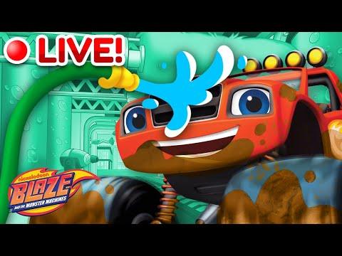 🔴LIVE: Car Wash Surprise MARATHON w/ the Monster Machines! | Blaze and the Monster Machines