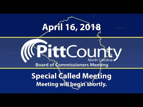 Pitt County Commissioners & Board of Education Joint Meeting for 4/16/2018