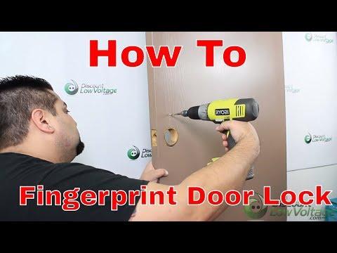 How to install your own Biometric Fingerprint Door Lock