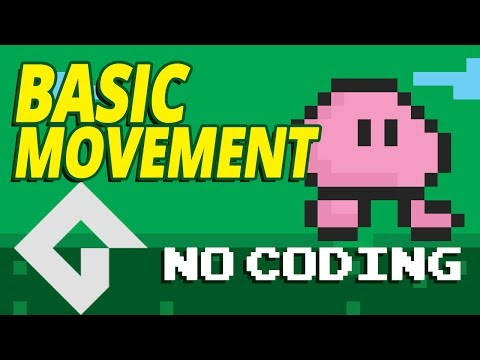 Game Maker Studio 2  -  Basic Movement   Part 1 - No Coding.