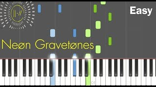 twenty one pilots - Neon Gravestones - (Easy Piano Tutorial) - Synthesia (Midi)