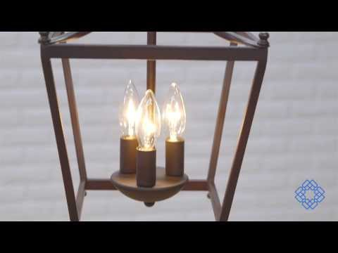 Video for Stanton Burnished Bronze Three-Light Foyer Pendant