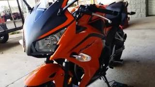 5. 2016 Honda CBR300R Orange Sport Bike Walk-Around Video | CBR 300cc