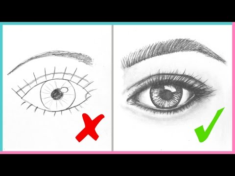 DOs & DON'Ts: How to Draw Realistic Eyes Easy Step by Step | Art Drawing Tutorial (видео)
