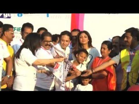 Shilpa Shetty Flag Off 3rd Edition Of Their Annual Little Hearts Marathon 2