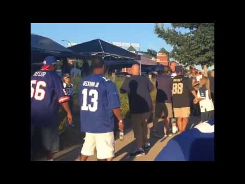 Cowboys Fan Gets Knocked Out With One Punch By Giants Fan During Tailgate