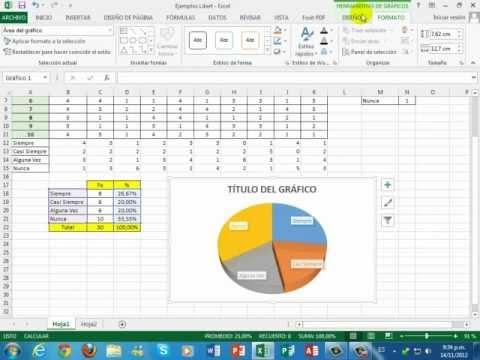 Excel 2013 Escala de Likert