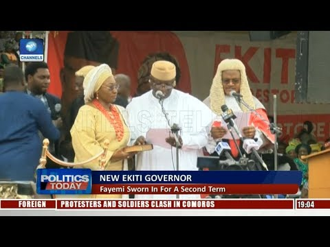 New Ekiti Governor: Fayemi Sworn In For A Second Term |Politics Today|
