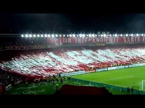 Salida Independiente Santa Fe vs Gremio, Copa Libertadores. - La Guardia Albi Roja Sur - Independiente Santa Fe
