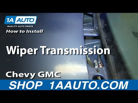 How to Install Replace  Wiper Transmission 1988-98 Chevy GMC  1500 2500 Tahoe Suburban
