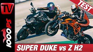 KTM 1290 Super Duke R vs. Kawasaki Z H2 - Vergleich der zwei irren Nakedbikes