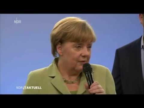 Девочка расплакалась после беседы с Меркель
