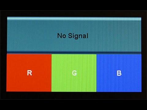 No signal на мониторе что делать видео