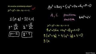 Naloga 6 – kdaj gre za enačbo elipse