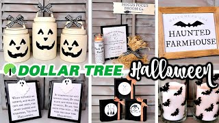 DIY DOLLAR TREE HALLOWEEN DECOR | FARMHOUSE FALL TRENDS
