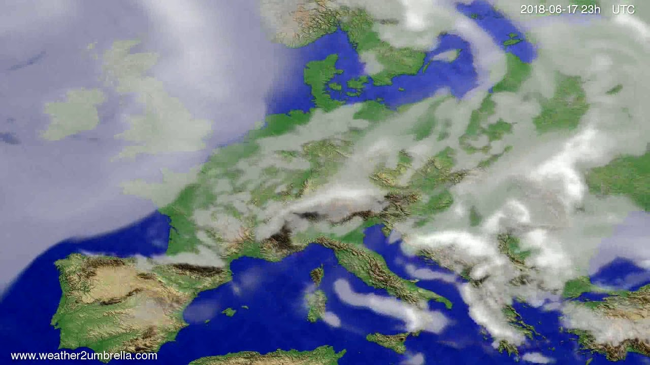 Cloud forecast Europe 2018-06-14